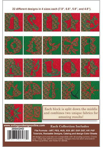 Anita Goodesign Christmas Mirror Block