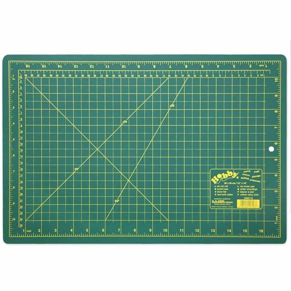 "Hobby Green Self Healing Cutting Mat 11"" x 17"" available at The Quilt Store"