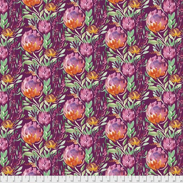 Thistle Flowers Cabernet by Corinne Haig available at The Quilt Store