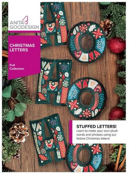 Anita Goodesign Christmas Letters available in Canada at The Quilt Store