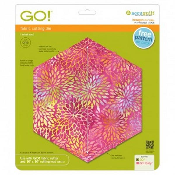 AccuQuilt Go! Fabric Cutting Die Hexagon 4 1/2""