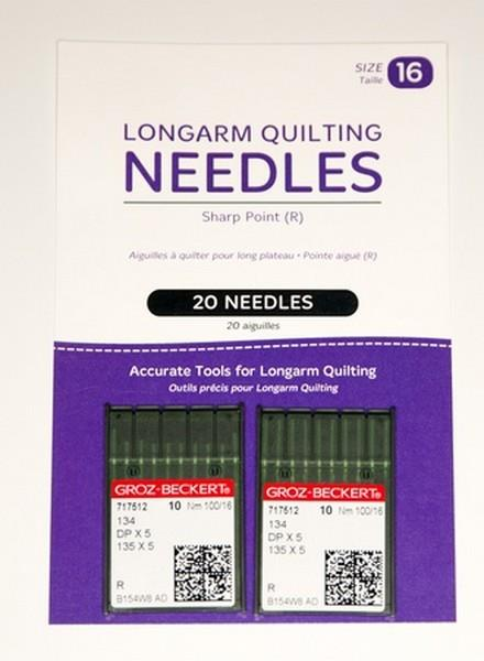 Longarm Needles 16/100 available at The Quilt Store