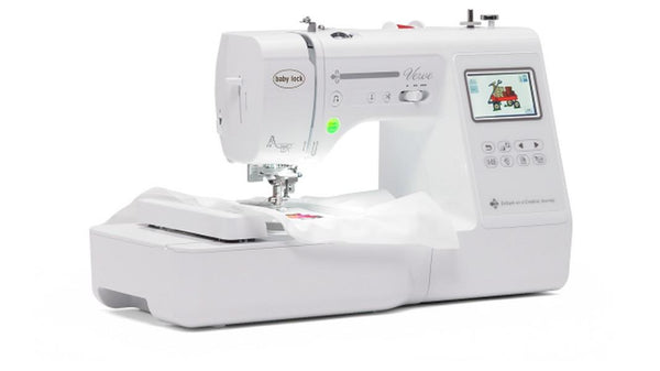 Baby Lock Verve Embroidery and Sewing machine available at The Quilt Store in Canada