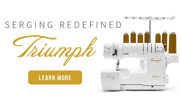 BabyLock Triumph Serger available at The Quilt Store