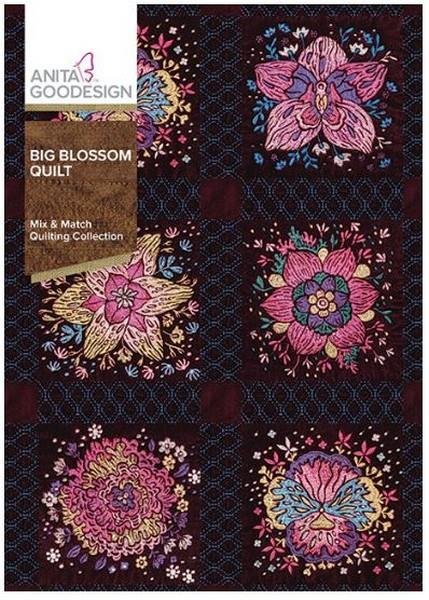 Anita Goodesign Big Blossom Quilt available in Canada at The Quilt Store