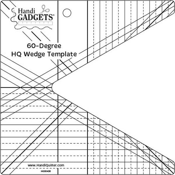 HandiQuilter 60 Degree Wedge Ruler available in Canada at The Quilt Store
