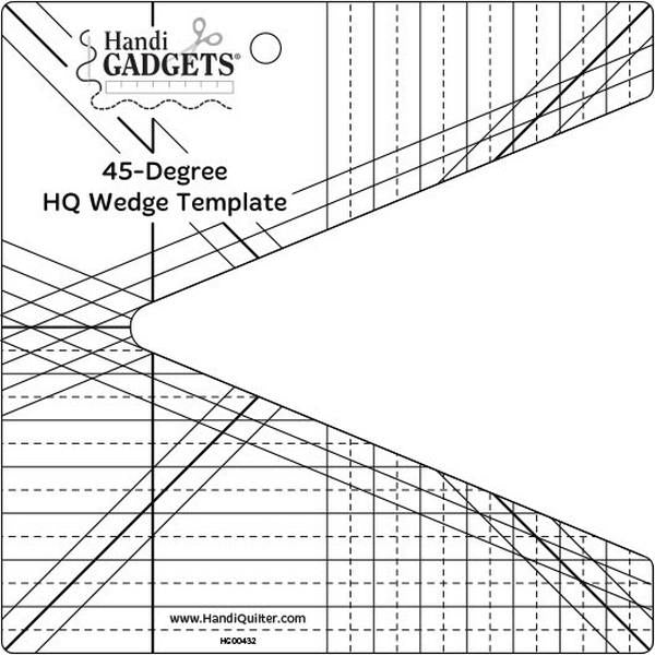 HandiQuilter 45 Degree Wedge Ruler available at The Quilt Store