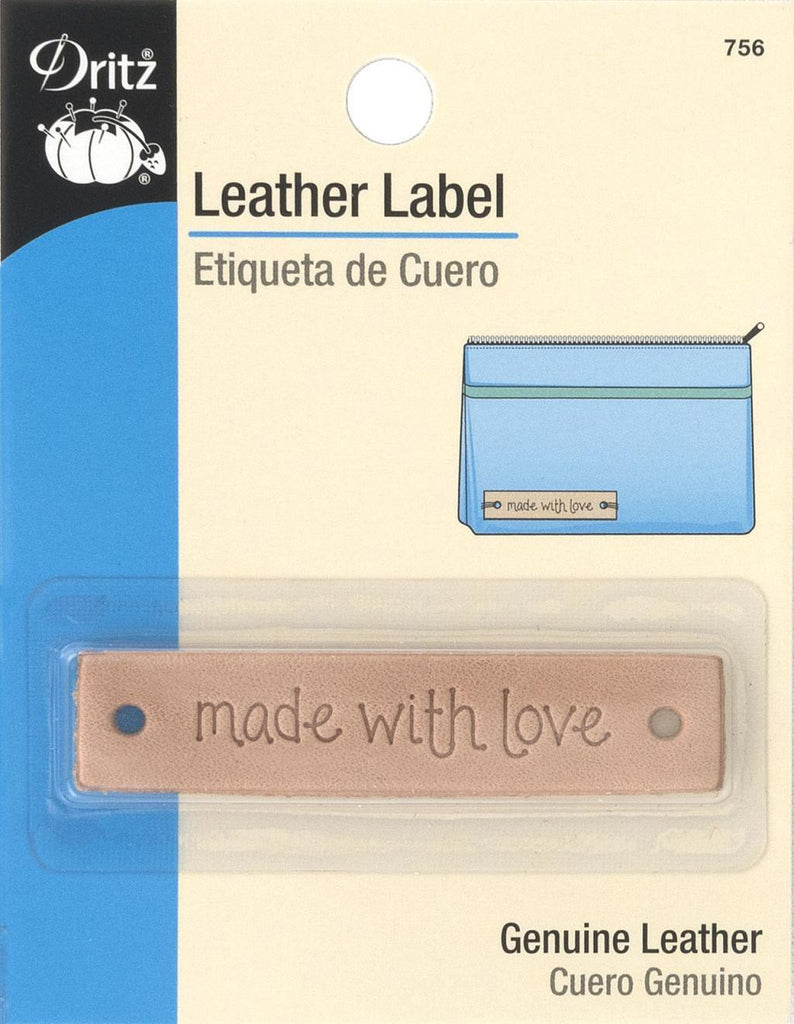 Leather Label - Made with Love