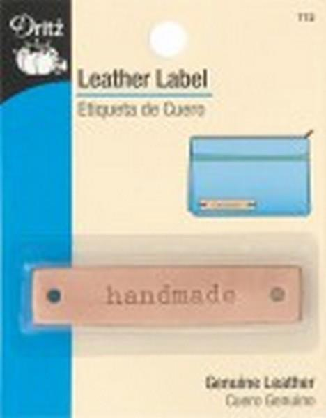 "Leather Label - ""handmade"""
