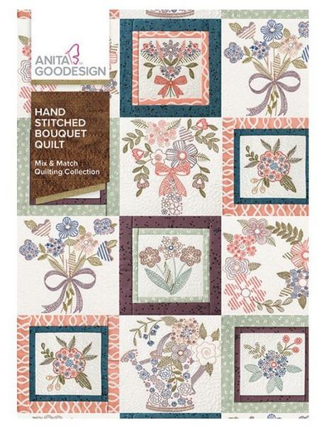 Anita Goodesign Hand Stitched Bouquet Quilt