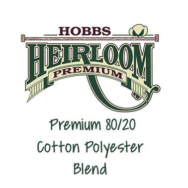 Hobbs Heirloom Premium Cotton Blend Batting available at The Quilt Store