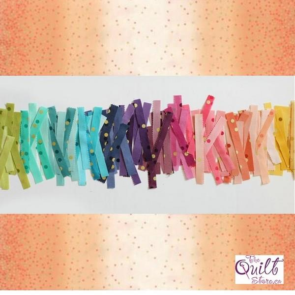 Ombre Confetti Metallic Coral available in Canada at The Quilt Store