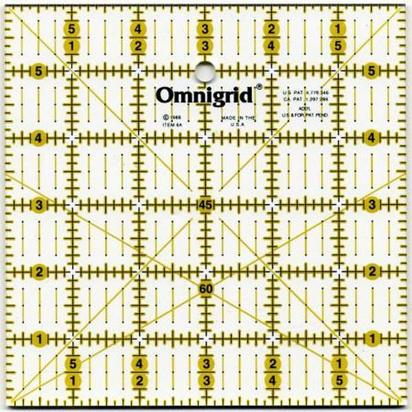 "Omnigrid Ruler 6"" x 6"" with Angles available in Canada at The Quilt Store"