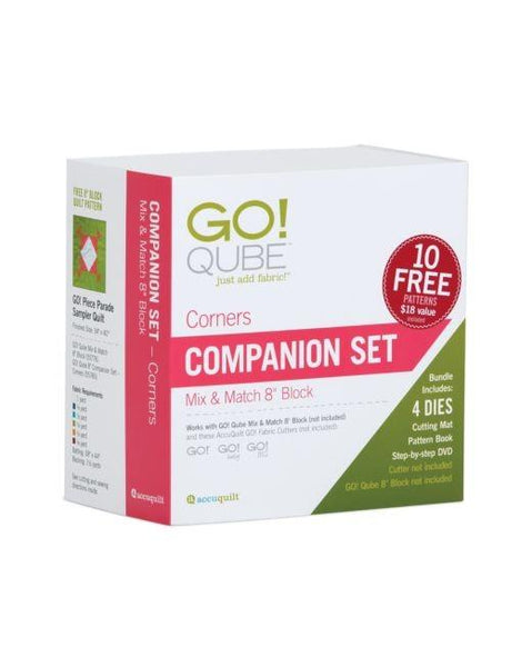 "Accuquilt GO! Qube 8"" Companion Corner set available in Canada at The Quilt Store"
