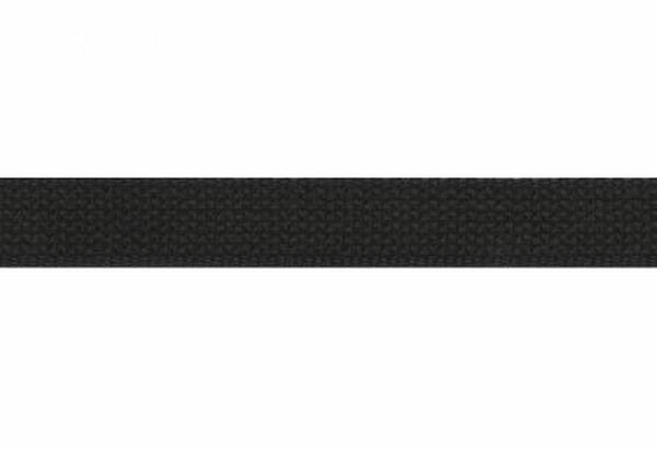 "1"" Cotton Webbing Black"