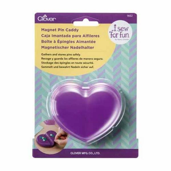 Clover Heart Shaped Magnetic Pin Cushion available at The Quilt Store