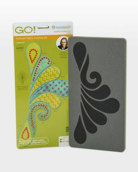 GO! Heather Feather 1 Die available in Canada at The Quilt Store