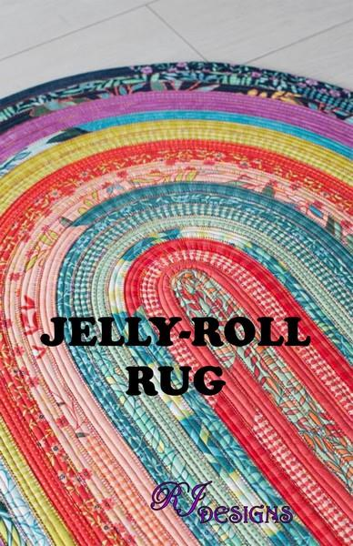 Jelly-Roll Rug PAttern available at The Quilt Store