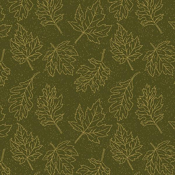 Autumn Leaves - Dark Green