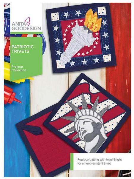 Patriotic Trivets by Anita Goodesign available in Canada at The Quilt Store