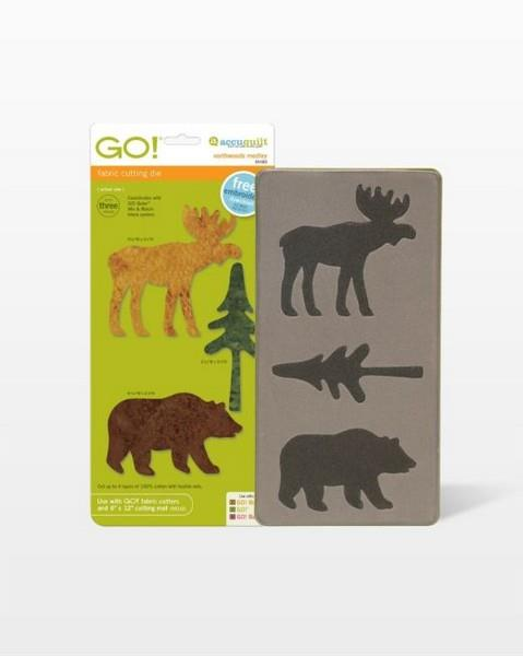 Accuquilt GO! Northwoods Medley die available in Canada at The Quilt Store