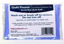 Quilt Pounce Blue Refill Wash / Brush Out available at The Quilt Store
