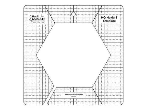 "Handi Quilter 3"" Hex Template available in Canada at The Quilt Store"