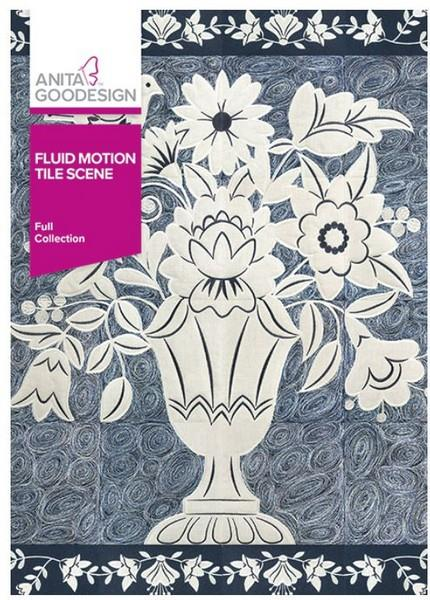 Anita Goodesign Fluid Motion Tile Scene available in Canada at The Quilt Store