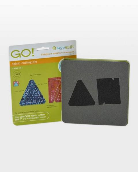 "AccuQuilt Go! Fabric Cutting Die Triangle in a Square 2"" Finished available in Canada at The Quilt Store"
