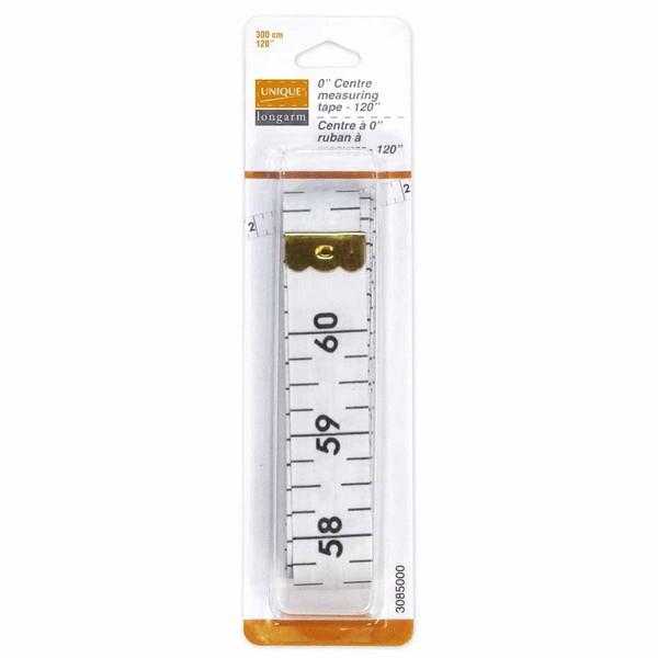 "Unique 0"" Centre Measuring Tape available in Canada at The Quilt Store"