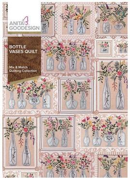 Anita Goodesign Bottle Vases Quilt available at The Quilt Store