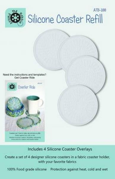 Around The Bobbin Silicone Coaster Refils available in Canada at The Quilt Store