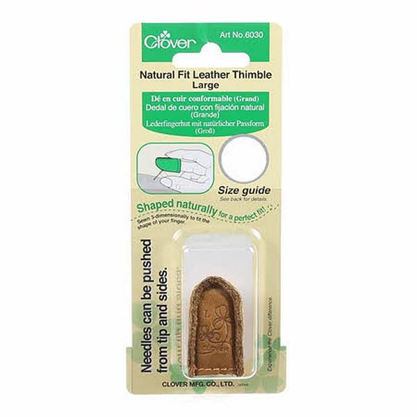 Clover Natural Fit Leather Thimble Large
