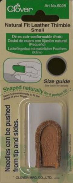 Clover Natural Fit Leather Thimble Small available in Canada at The Quilt Store