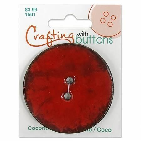 "Coconut Button 2 1/2"" - RED"