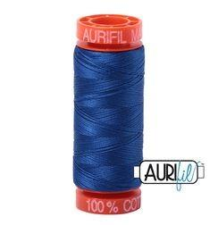 Aurifil 2735 Medium Blue 50 wt 200m available in Canada at The Quilt Store