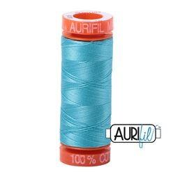 Aurifil 5005 Bright Turquoise 50 wt 200m available in Canada at The Quilt Store