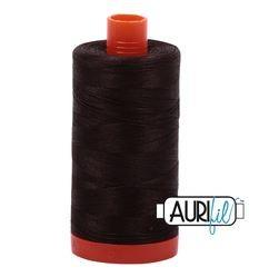 Aurifil 1130 Very Dark Bark 50 wt available at The Quilt Store
