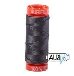 Aurifil 2630 Dark Pewter 50 wt 200m available in Canada at The Quilt Store