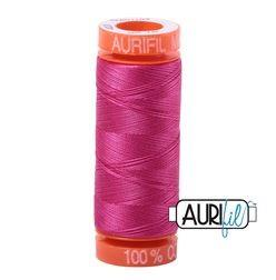 Aurifil 4020 Fuscia 50 wt 200m available in Canada at The Quilt Store