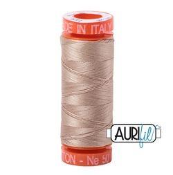 Aurifil 2326 Sand 50 wt available at The Quilt Store