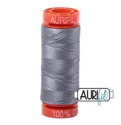 Aurifil 2605 Grey 50 wt 200m available in Canada at The Quilt Store