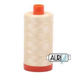 Aurifil 2110 Light Lemon 50wt available in Canada at The Quilt Store