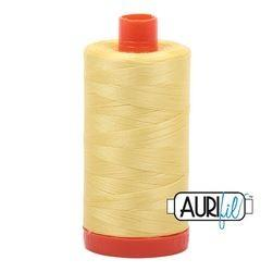 Aurifil 2115 Lemon 50 wt available in Canada at The Quilt Store