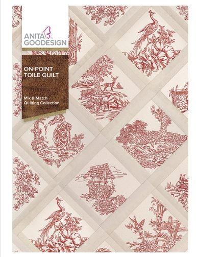 Anita Goodesign On-Point Toile Quilt