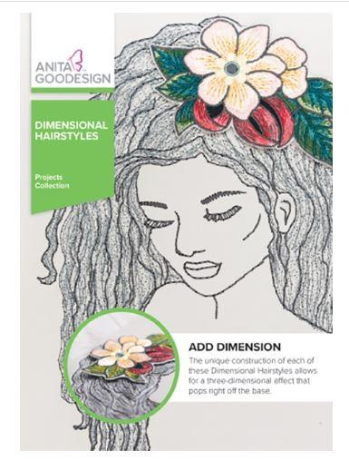 Anita Goodesign Dimensional Hairstyles available at The Quilt Store