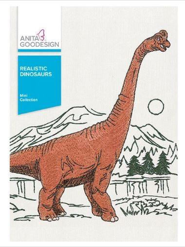 Anita Goodesign Realistic Dinosaurs available at The Quilt Store