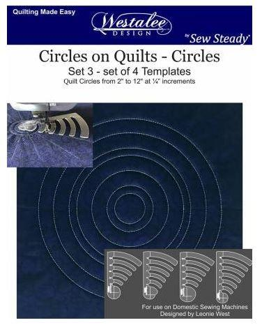 Westalee Circles on Quilts - Circles set available in Canada at The Quilt Store