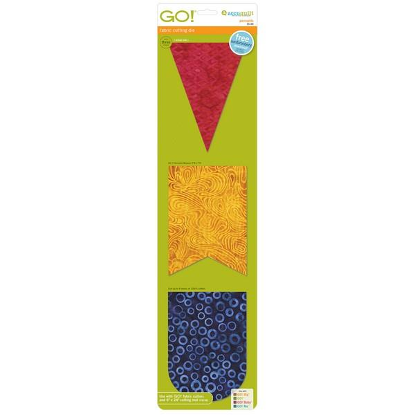 GO! Pennants Accuquilt Die available at The Quilt Store in Canada