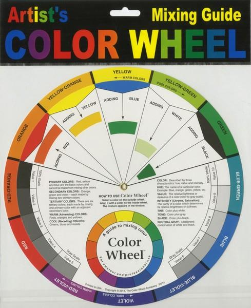 Color Wheel Mixing Guide 9 1/4""
